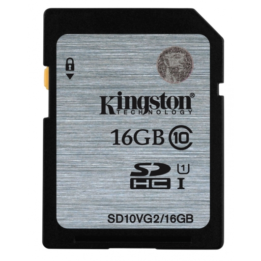Kingston 16GB SDHC (SD) Memory Card U1 10MB/s
