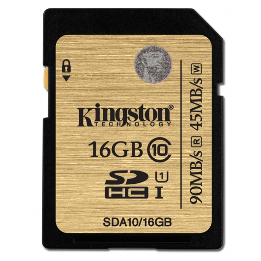 Kingston 16GB Ultimate SDHC (SD) Memory Card U1 45MB/s