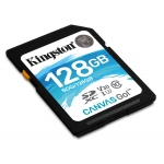 Kingston 128GB Canvas Go SD (SDXC) Card U3, V30, 90MB/s R, 45MB/s W