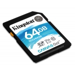 Kingston 64GB Canvas Go SD (SDXC) Card U3, V30, 90MB/s R, 45MB/s W