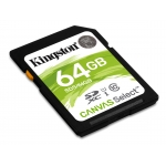 Kingston 64GB Canvas Select SD (SDXC) Card 80MB/s R, 10MB/s W
