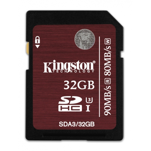 Kingston 32GB SDHC Memory Card U3 80MB/s for Canon EOS 100D Digital Camera