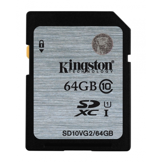 Kingston 64GB SDXC (SD) Memory Card U1 10MB/s for Canon EOS 100D Digital Camera
