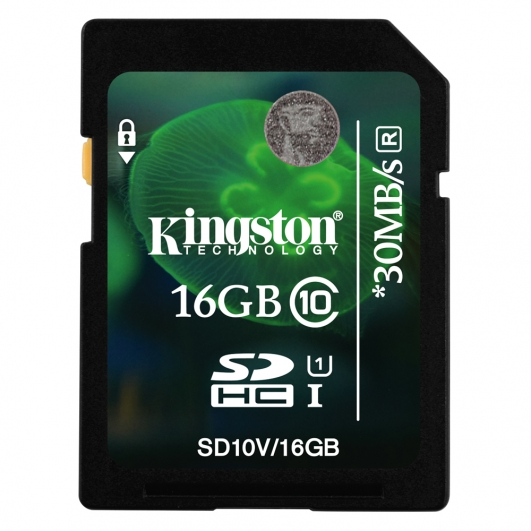 Kingston 16GB SDHC (SD) Memory Card U1 10MB/s for Canon EOS 100D Digital Camera