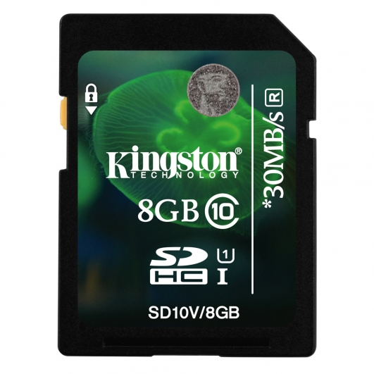 Kingston 8GB SDHC (SD) Memory Card U1 10MB/s for Canon EOS 100D Digital Camera