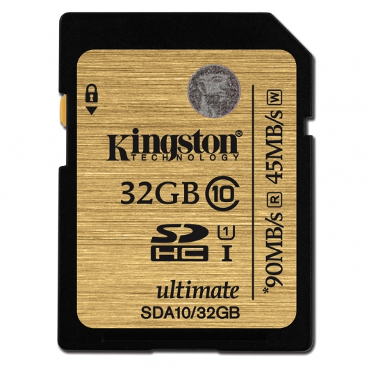 Kingston 32GB Ultimate SDHC (SD) Memory Card U1 45MB/s for Canon EOS 100D Digital Camera