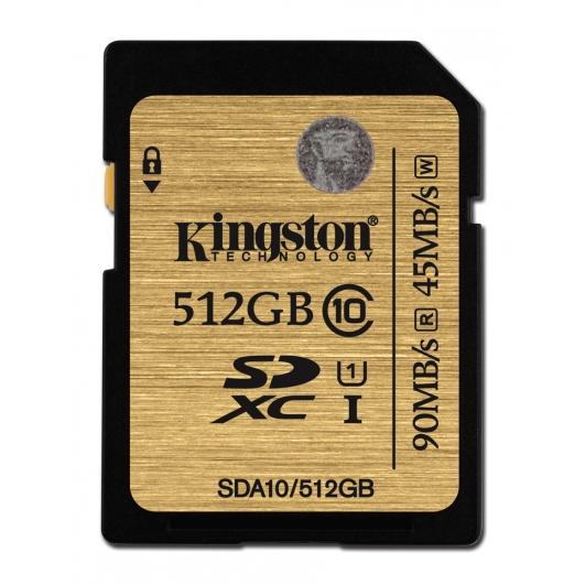 Kingston 512GB Ultimate SDXC (SD) Memory Card U1 45MB/s for Canon EOS 100D Digital Camera