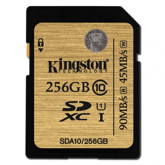 Kingston 256GB Ultimate SDXC Memory Card U1 45MB/s for Canon EOS 100D Digital Camera