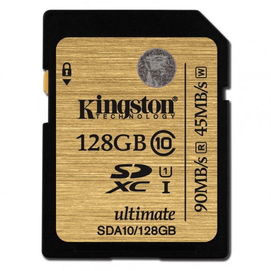 Kingston 128GB Ultimate SDXC (SD) Memory Card U1 45MB/s for Canon EOS 100D Digital Camera