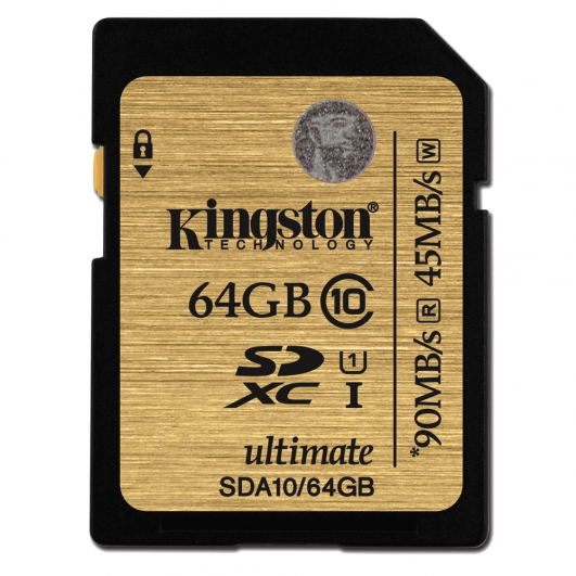 Kingston 64GB Ultimate SDXC (SD) Memory Card U1 45MB/s for Canon EOS 100D Digital Camera