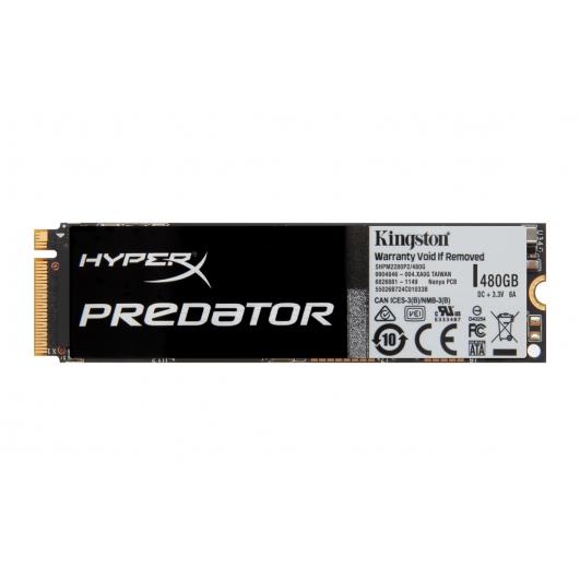 HyperX Predator 480GB M.2 SATA 3.0 PCIe SSD 1400MB/s (No Adapters)