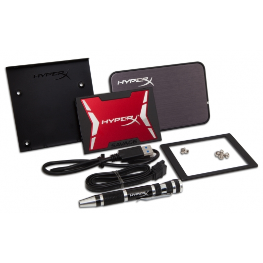 HyperX 960GB Savage SSD Solid State Drive Bundle Kit SATA 2.5 Inch 7mm