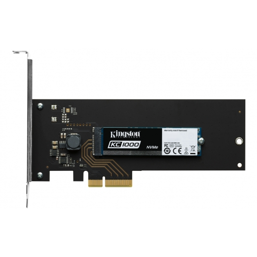 Kingston 960GB KC1000 NVMe M.2 2280 SATA 3.0 PCIe SSD 2700MB/s (With Adapters)