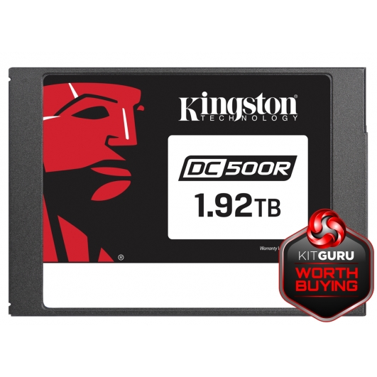 Kingston 1.92TB (1920GB) DC500R SSD 2.5 Inch 7mm, SATA 3.0 (6Gb/s), 555MB/s R, 525MB/s W