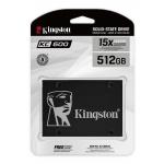 Kingston 512GB KC600 SSD 2.5 Inch 7mm, SATA 3.0 (6Gb/s), 3D TLC, 550MB/s R, 520MB/s W