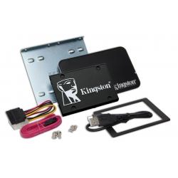 Kingston 256GB KC600 SSD 2.5 Inch 7mm, SATA 3.0 (6Gb/s), 3D TLC, 550MB/s R, 500MB/s W, (Bundle)