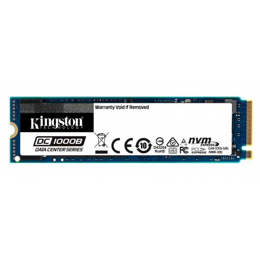 Kingston 480GB DC1000B SSD M.2 (2280), NVMe, PCIe 3.0 (x4), 3200MB/s R, 565MB/s W