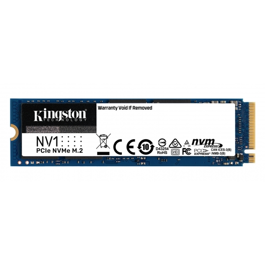 Kingston 2.0TB (2000GB) NV1 SSD M.2 (2280), NVMe, PCIe 3.0 (x4), 2100MB/s R, 1700MB/s W