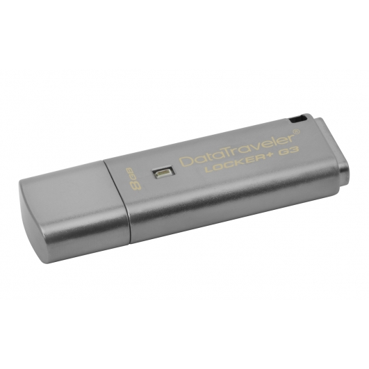 Kingston 8GB DataLocker+ G3 Encrypted Flash Drive USB 3.0, 80MB/s
