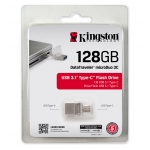 Kingston 128GB DataTraveler microDuo USB 3.1 Type C Memory Stick Flash Drive