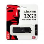 Kingston 32GB USB 2.0 DataTraveler DT104 Memory Stick Flash Drive