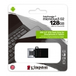 Kingston 128GB DataTraveler MicroDuo Flash Drive USB 3.2, Gen1, 80MB/s