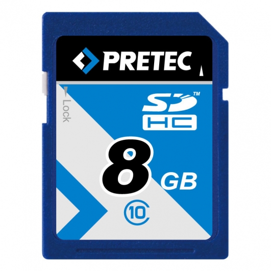 Pretec 8GB Class 10 SDHC (SD) Memory Card (Retail)