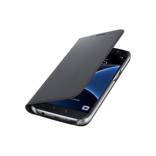 Original Samsung Galaxy S7 Flip PU Leather Case Black