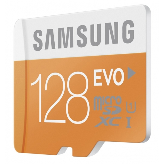 Samsung 128GB EVO Micro SDXC Memory Card Inc Adapter U1 48MB/s