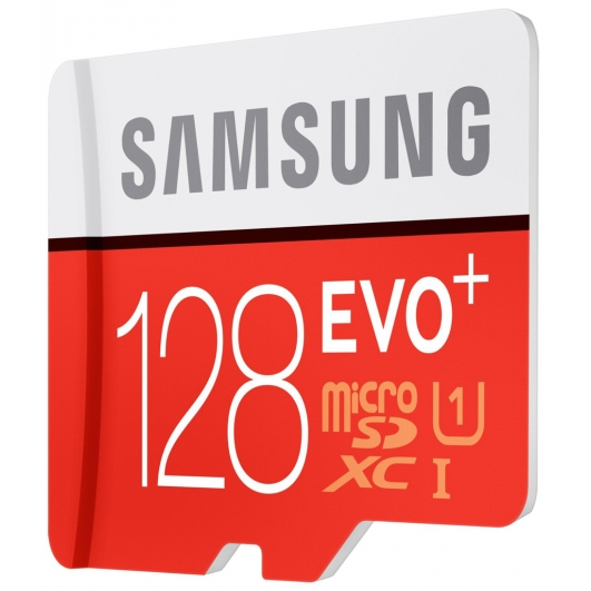 Samsung 128GB EVO+ Micro SDXC Memory Card Inc Adapter U1 80MB/s