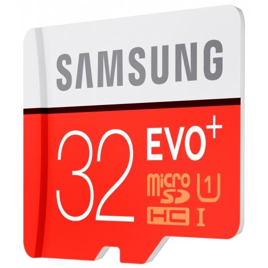 Samsung 32GB EVO+ Micro SDHC Memory Card Inc Adapter U1 80MB/s
