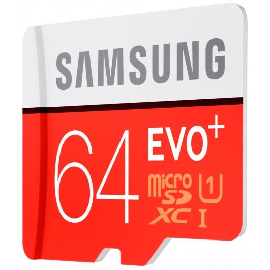 Samsung 64GB EVO+ Micro SDXC Memory Card Inc Adapter U1 80MB/s