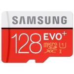 Samsung 128GB EVO+ microSDXC Memory Card Inc Adapter U1 80MB/s