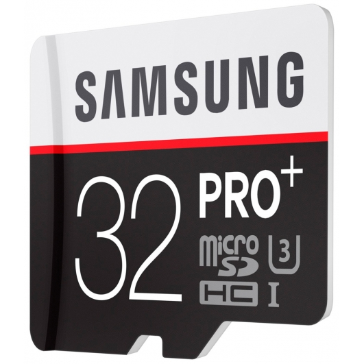 Samsung 32GB PRO+ microSDHC (microSD) Memory Card Inc Adapter U3 95MB/s