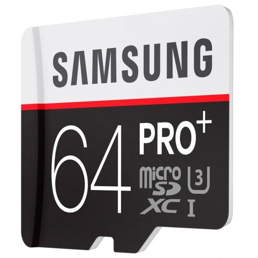Samsung 64GB PRO+ Micro SDXC Memory Card Inc Adapter U3 95MB/s