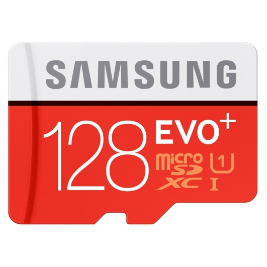 Samsung 128GB EVO+ microSDXC Memory Card Inc Adapter U1 80MB/s