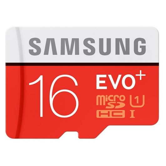 Samsung 16GB EVO+ microSDHC (microSD) Memory Card Inc Adapter U1 80MB/s