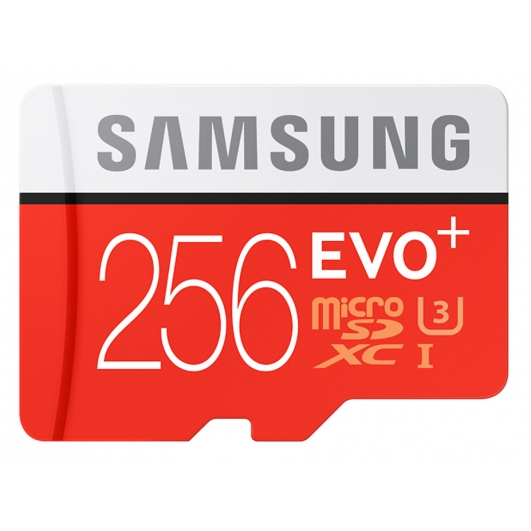 Samsung 256GB EVO+ microSDXC Memory Card Inc Adapter U3 95MB/s