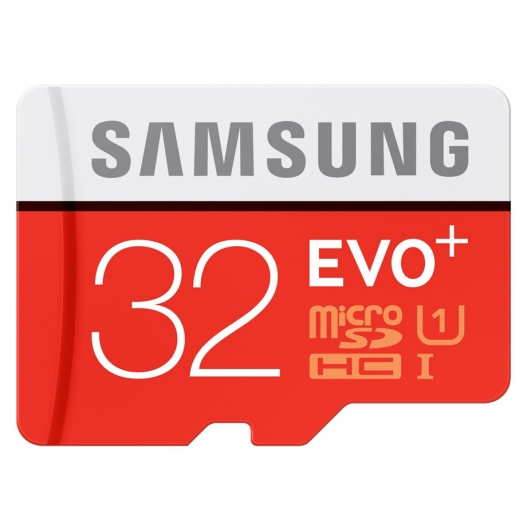 Samsung 32GB EVO+ microSDHC (microSD) Memory Card Inc Adapter U1 80MB/s