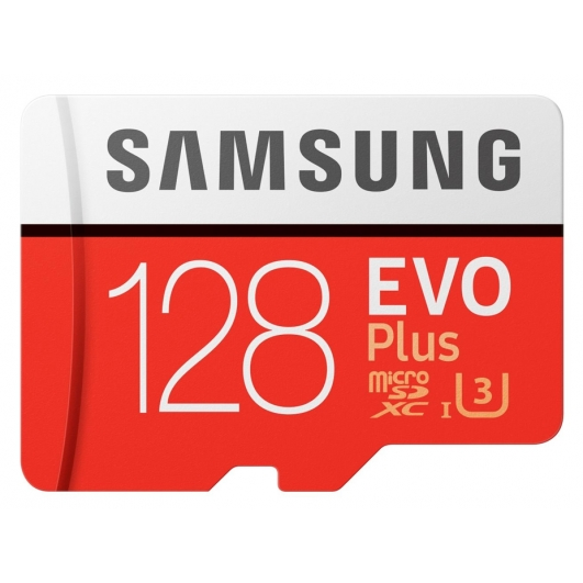 Samsung 128GB EVO Plus microSDXC Memory Card Inc Adapter U3 100MB/s