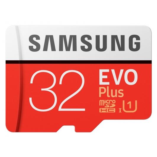 Samsung 32GB EVO Plus microSDHC (microSD) Memory Card Inc Adapter U1 95MB/s