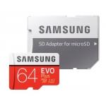 Samsung 64GB EVO Plus Micro SD (SDXC) Card 100MB/s R, 90MB/s W