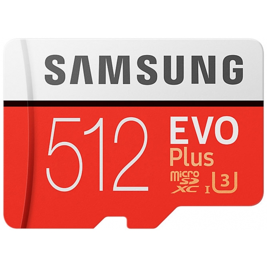 Samsung 512GB Evo Plus Micro SD Card - U3, Up To 100MB/s