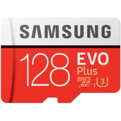 Samsung 128GB EVO Plus Micro SD (SDXC) Card, Gen2, 100MB/s R, 60MB/s W
