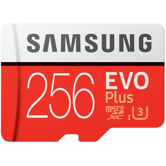 Samsung 256GB EVO Plus Micro SD (SDXC) Card 100MB/s R, 90MB/s W