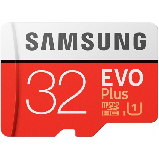 Samsung 32GB Evo Plus Micro SD Card - U1, Up To 60MB/s