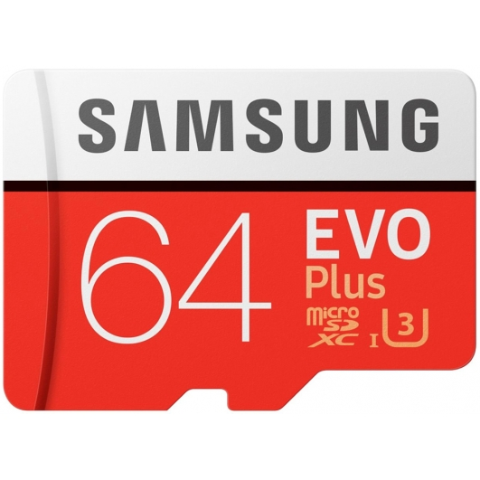 Samsung 64GB Evo Plus Micro SD Card - U3, Up To 100MB/s
