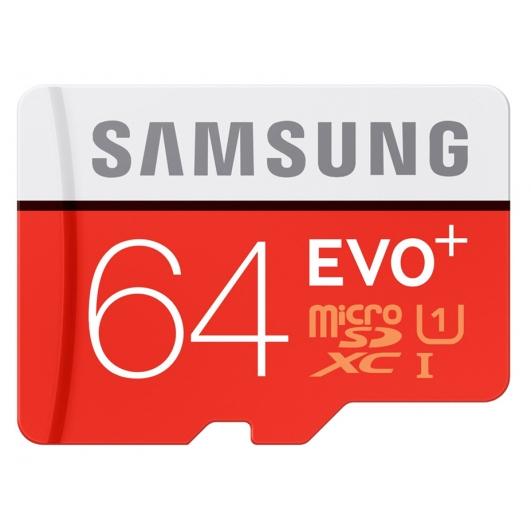 Samsung 64GB Evo Plus Micro SD Card - U1, Up To 100MB/s