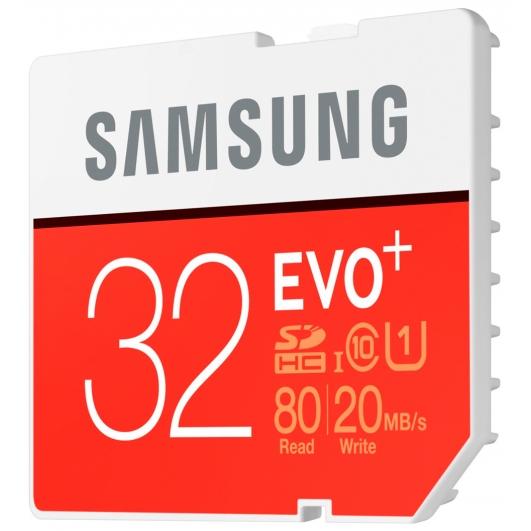 Samsung 32GB EVO+ SDHC (SD) Memory Card U1 80MB/s