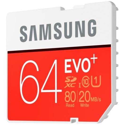 Samsung 64GB EVO+ SDXC Memory Card U1 80MB/s